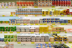Food store. MACAO, CHINA - FEBRUARY 17, 2016: inside of a food store in Macao. Macao is an autonomous territory on the western side of the Pearl River Delta stock images