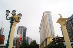 Macao, China: hotel building landscape Royalty Free Stock Images
