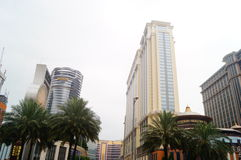 Macao, China: hotel building landscape Royalty Free Stock Image