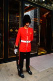 Macao, China: hotel gate guard Royalty Free Stock Images