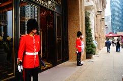 Macao, China: hotel gate guard Royalty Free Stock Photo