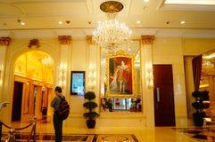 Macao, China: hotel lobby Stock Images