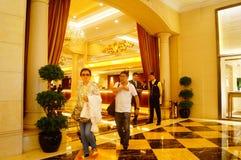 Macao, China: hotel lobby Royalty Free Stock Image
