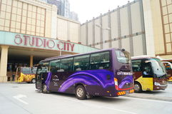 Macao, China: hotels and tourist buses Royalty Free Stock Image