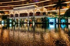 MACAO, CHINA - 24. JANUAR 2016: Wynn Palace-Eingangsgruppe Stockfotografie