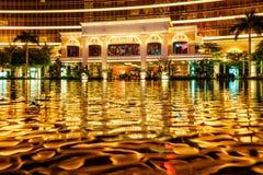 MACAO, CHINA - 24. JANUAR 2016: Wynn Palace-Eingangsgruppe Lizenzfreie Stockbilder