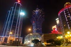 Macao, China - 2014 10 15: Macao - die spielende Hauptstadt von Asien Das Foto des berühmten großartigen Lissabon-Hotels lizenzfreies stockbild