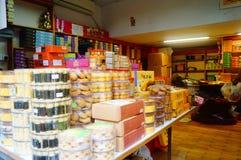 Macao, China: specialty snack bar Royalty Free Stock Photography