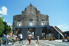 Macao, China: St Paul church historical relics Stock Images