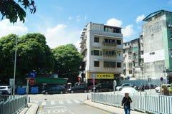 Macao, China: street landscape Royalty Free Stock Photography