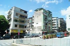 Macao, China: street landscape Royalty Free Stock Photo
