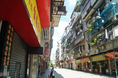 Macao, China: street landscape Royalty Free Stock Photography