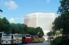 Macao, China: street landscape Royalty Free Stock Image