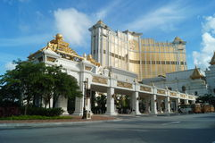 Macao, China: street landscape Royalty Free Stock Images