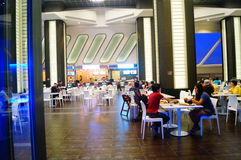 Macao, China: tourists dining in a restaurant Stock Photography