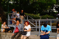 Macao, China: tourists Stock Image