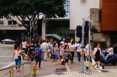 Macao, China: urban road traffic landscape Stock Photos