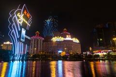 Macao, Chine - 2014 10 15 : Macao - la capitale de jeu de l'Asie La photo de l'hôtel célèbre de Wynn Images libres de droits