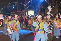 Macao: Chinese Nieuwjaarviering 2015 Stock Afbeelding