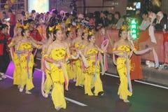 Macao: Chinese Nieuwjaarviering 2015 Stock Foto