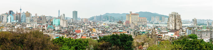 MACAO, CINA - 24 GENNAIO 2016: Vista della città Fotografia Stock Libera da Diritti
