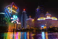 Macao, Cina - 2014 10 15: Macao - la capitale di gioco dell'Asia La foto dell'hotel famoso di Wynn Fotografia Stock Libera da Diritti