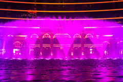 Macao, Cina - 2014 10 15: Macao - la capitale di gioco dell'Asia La foto della manifestazione della fontana di dancing all'hotel  Immagini Stock Libere da Diritti