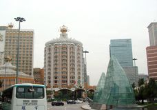 Macao is a city of gorgeous casinos. Landscapes of Asian Las Vegas. stock image