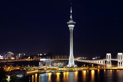 Macao city at night Stock Image
