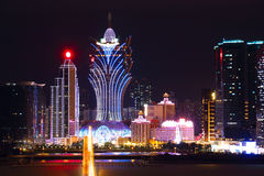 Macao cityscape with famous landmark Royalty Free Stock Photo
