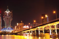 Macao cityscape with famous landmark of casino Stock Images