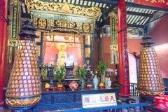 MACAO - 13 décembre 2015 : Lin Fong Temple sites historiques célèbres dedans Photos libres de droits