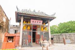 MACAO - 13 décembre 2015 : Temple de Na Tcha (site de patrimoine mondial) un famo Image libre de droits