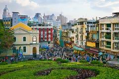 Macao - 20 de noviembre de 2015: Centro de ciudad Fotografía de archivo libre de regalías