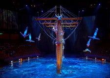 Macao - 20 de noviembre de 2015: La casa del agua del baile Fotos de archivo
