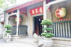 MACAO - December 13 2015: Lin Fong Temple berömda historiska platser in Arkivbilder