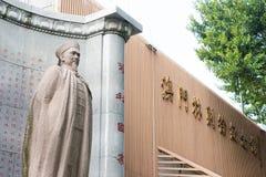 MACAO - December 13 2015: Lin Zexu Statue på Lin Zexu Memorial Museum Royaltyfri Fotografi