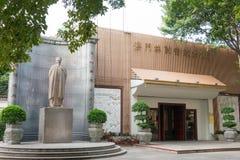 MACAO - December 13 2015: Lin Zexu Statue på Lin Zexu Memorial Museum Fotografering för Bildbyråer