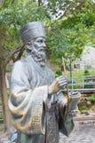 MACAO - December 13 2015: Matteo Ricci staty i historisk mitt av Royaltyfri Fotografi