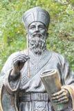 MACAO - December 13 2015: Matteo Ricci staty i historisk mitt av Arkivbilder
