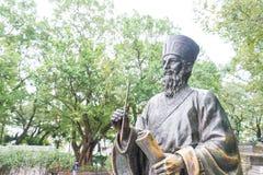 MACAO - December 13 2015: Matteo Ricci staty i historisk mitt av Royaltyfri Bild