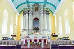 MACAO - December 13 2015: Sts Augustine kyrka (världsarvet) Fotografering för Bildbyråer