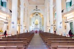 MACAO - December 13 2015: Sts Dominic kyrka (världsarvet) Royaltyfri Foto