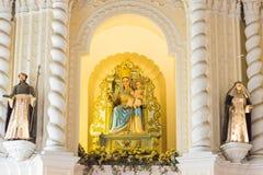 MACAO - December 13 2015: Sts Dominic kyrka (världsarvet) Royaltyfri Fotografi