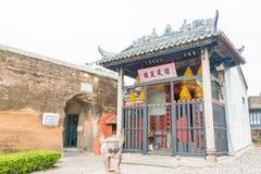 MACAO - December 13 2015: Tempel för Na Tcha (världsarvet) en famo Arkivfoton