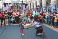 Macao: Den Venetian Carnevalen 2014 Arkivfoto