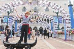 Macao: Den Venetian Carnevalen 2014 Arkivfoton