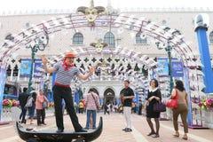 Macao: Den Venetian Carnevalen 2014 Arkivbild