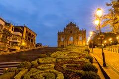 Macao fördärvar av St Paul ` s royaltyfria foton