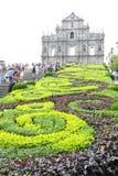 Macao: Fördärvar av St. Pauls Royaltyfria Foton
